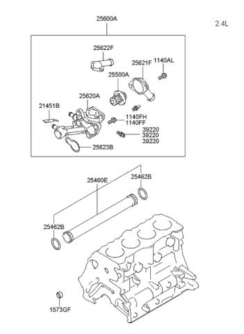 2003 Hyundai Sonata Coolant Hose Pipe Hyundai Parts Deal