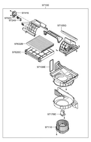 Genuine Hyundai 97135-0W000 Heater and Evaporator Case