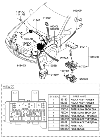 91831-3L110 - Genuine Hyundai WIRING ASSEMBLY-ENGINE ROOMGenuine Hyundai Parts