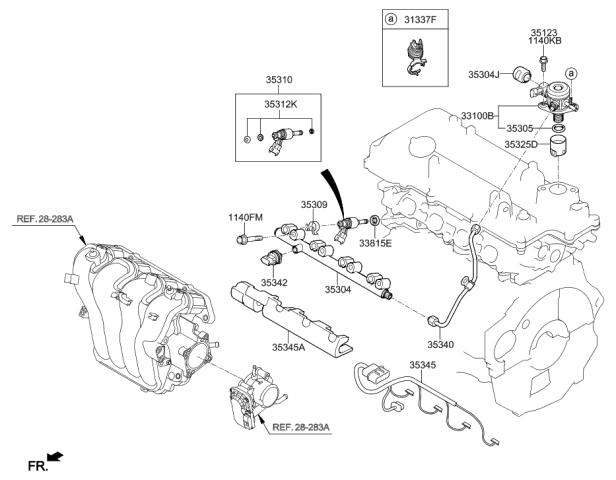 35320-2B100 - Genuine Hyundai PUMP ASSEMBLY-HIGH PRESSUREGenuine Hyundai Parts