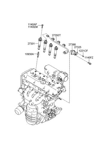 27301-26640 - Genuine Hyundai COIL ASSEMBLY-IGNITIONGenuine Hyundai Parts