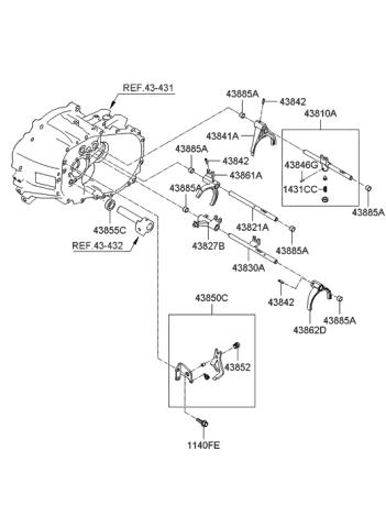 Genuine Hyundai 45940-36000 Manual Control Shaft Assembly