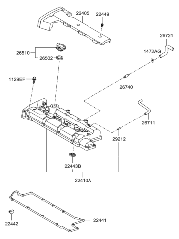 [DIAGRAM_5UK]  1997 Hyundai Elantra Rocker Cover - Hyundai Parts Deal | 1997 Hyundai Elantra Engine Diagram |  | Genuine Hyundai Parts