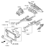 Related Parts for Hyundai Radiator Support - 64101-2S000