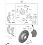 Related Parts for Hyundai Genesis G70 Brake Disc - 58411-J5000