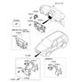 Related Parts for Hyundai Santa Fe A/C Switch - 97250-2B151-CA
