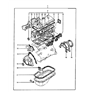 Related Parts for 1985 Hyundai Excel Water Pump Gasket - 25124-21000