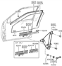 Related Parts for Hyundai Excel Window Regulator - 82401-24000