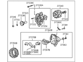Genuine Hyundai 37300-35010 Generator Assembly
