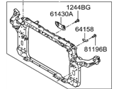 Hyundai Radiator Support - 64101-2S000