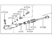 Genuine Hyundai 41710-22650 Clutch Release Cylinder Assembly