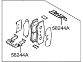 Hyundai Brake Pad Set - 58302-2BA00