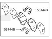 Hyundai Brake Pad Set - 58101-2WA00