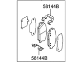 Hyundai Genesis Coupe Brake Pad Set - 58101-2MA00