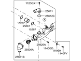 Genuine Hyundai 25611-3C200 Water Outlet Fitting