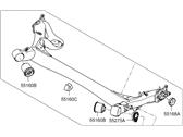 Genuine Hyundai 55500-28700 Complete Torsion Axle and Arm