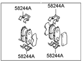 Hyundai Brake Pad Set - 58302-2DA00