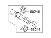 Hyundai Brake Pad Set - 58302-2SA00