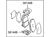 Hyundai Genesis Coupe Brake Pad Set - 58302-2MA10