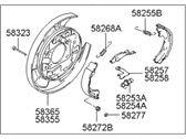 Left Genuine Hyundai 58250-3K000 Parking Brake Assembly Rear
