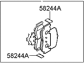 Hyundai Brake Pad Set - 58302-3KA60